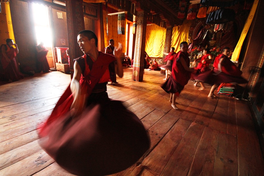 monks prepare themselves for weeks ahead of the festival