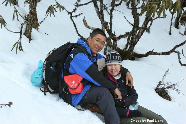 Bhutan It snowed me & emily
