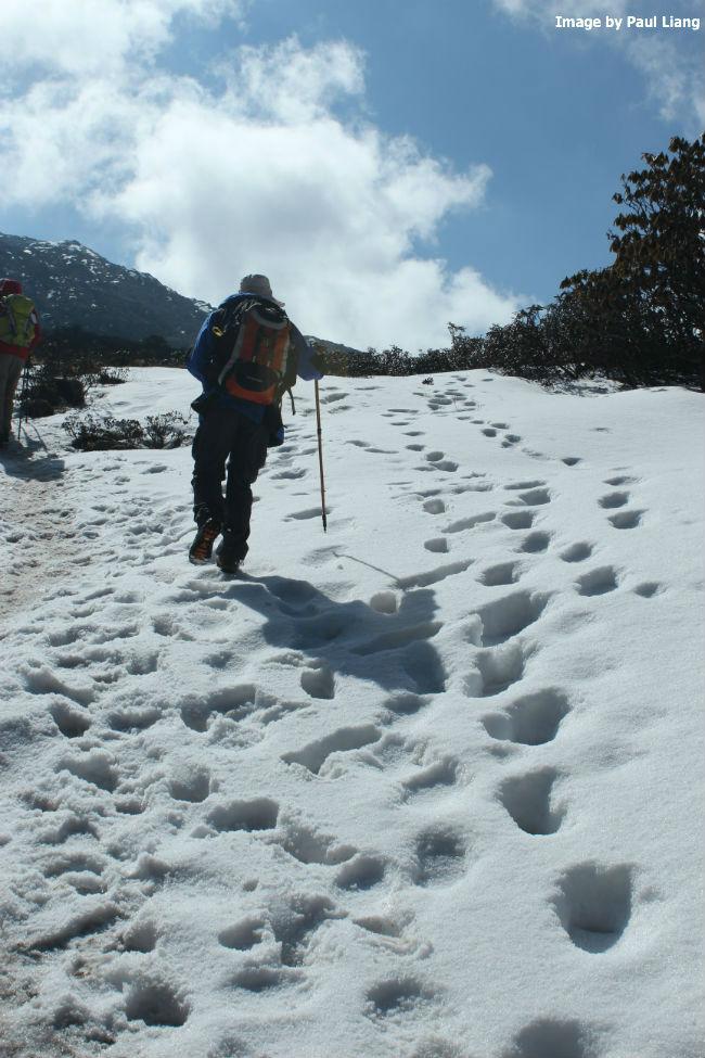 Bhutan snowy trek